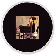 A Partner In Productive Advertising Alfred Parker Round Beach Towel