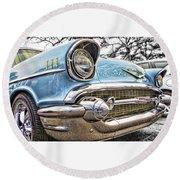 '57 Chevy Bel Air Round Beach Towel by Daniel Adams