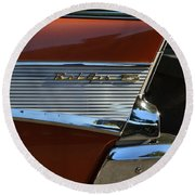 57 Chevy Fin Round Beach Towel