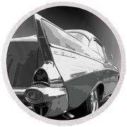 57 Chevy Horizontal Round Beach Towel