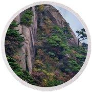 5782- Yellow Mountains Round Beach Towel