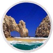 Landscape Images Round Beach Towel