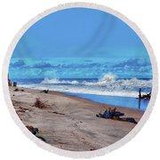 58- Sapphire Surf Round Beach Towel