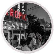 5828- Tropic Theater Round Beach Towel