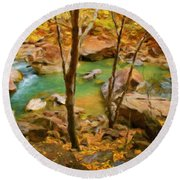 Nature Cool Landscape Round Beach Towel