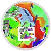6-19-2015dabcdefghijklmnopqrtu Round Beach Towel