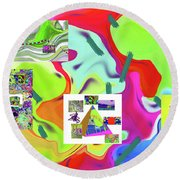 6-19-2015dabcdefghijklmnopqrtuvwxy Round Beach Towel