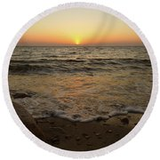 6-6-16--0576 Don't Drop The Crystal Ball Round Beach Towel