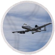 A U.s. Air Force A-10 Thunderbolt II Round Beach Towel