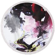 Abstract Figure Art Round Beach Towel