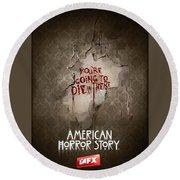 American Horror Story 2011 Round Beach Towel
