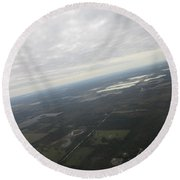 An Aerial View Of Fort Myers Round Beach Towel