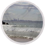 Australia - Coolangatta Beach Round Beach Towel