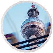 Berlin Tv Tower Round Beach Towel