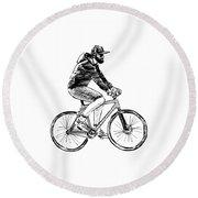 Bike Life  Round Beach Towel