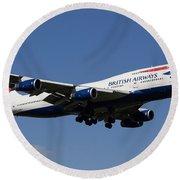 British Airways Boeing 747 Round Beach Towel