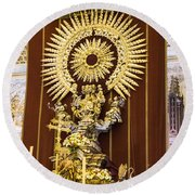 Cathedral Of Seville - Seville Spain Round Beach Towel