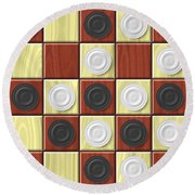 Checkerboard Generated Seamless Texture Round Beach Towel