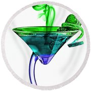 Cocktails Collection Round Beach Towel