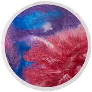 Color Abstracts Round Beach Towel