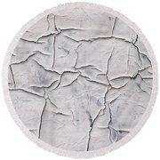 Cracked Paint Round Beach Towel