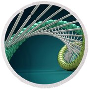 Dna Structure Round Beach Towel