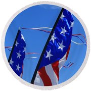 Patriotic Flying Kite Round Beach Towel