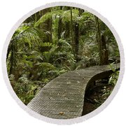 Forest Boardwalk Round Beach Towel