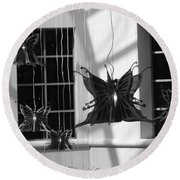 Hanging Butterflies Round Beach Towel