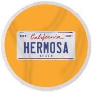 Hermosa Beach. Round Beach Towel