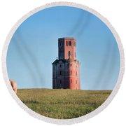 Horton Tower - England Round Beach Towel