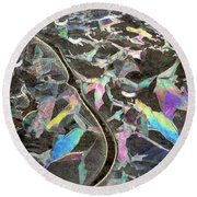 6. Ice Prismatics, Slaley Woods Round Beach Towel