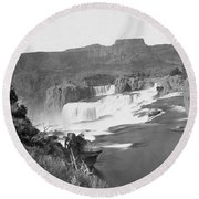 Idaho: Shoshone Falls Round Beach Towel