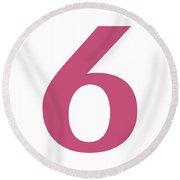 6 In Pink Typewriter Style Round Beach Towel