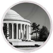Jefferson Memorial In Washington Dc Round Beach Towel