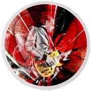 Joe Bonamassa Blues Guitarist Art. Round Beach Towel