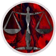 Law Office Collection Round Beach Towel