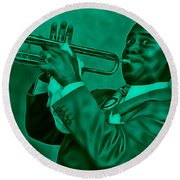 Louis Armstrong Collection Round Beach Towel