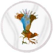 Lyrebird Round Beach Towel