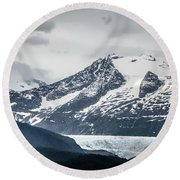 Mountain Range Scenes In June Around Juneau Alaska Round Beach Towel