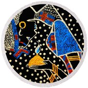 Murle South Sudanese Wise Virgin Round Beach Towel