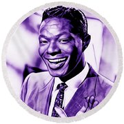 Nat King Cole Collection Round Beach Towel
