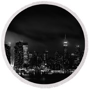 New Yorker Round Beach Towel