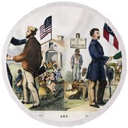 Presidential Campaign, 1864 Round Beach Towel