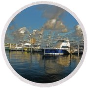 6- Sailfish Marina Round Beach Towel