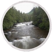 Sainte-anne River, Quebec Round Beach Towel