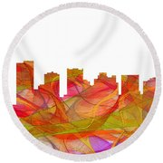Scottsdale Arizona Skyline Round Beach Towel