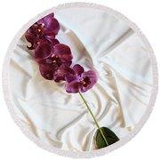 Silk Flower Round Beach Towel