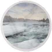 Storforsen - Sweden Round Beach Towel