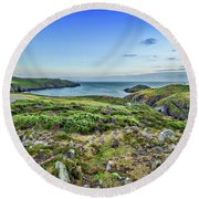 Strumble Head Lighthouse Round Beach Towel